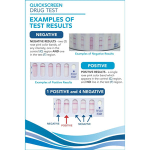 7 Panel QuickScreen Cup - 9421Z - AMP, BZD, COC-300, MET-500, OPI-300, PCP, THC + Timer - Countrywide Testing