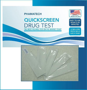 (25 Pack) 1 Panel QuickScreen Dipcard - 9082T - Opiates/Morphine - OPI-300 - Countrywide Testing