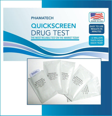 Load image into Gallery viewer, 5 Panel QuickScreen Dip Card - 9145T - Made in USA - AMP, COC, OPI-300, PCP, THC + Timer 5 Panel,Dip Cards Phamatech