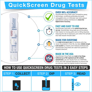 1 Panel QuickScreen Drug Test Dip Card - 9085T - Tricyclic Antidepressant (TCA) 1 Panel,Dip Cards Phamatech