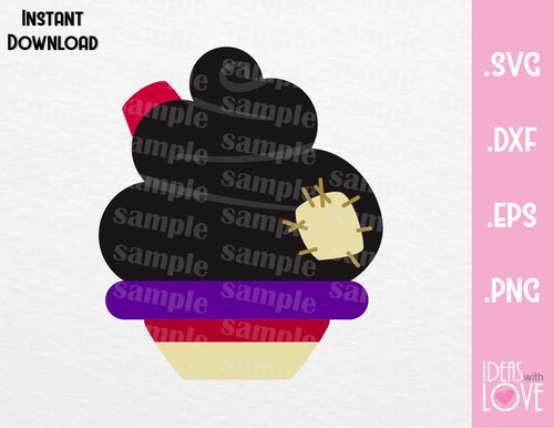 Aladdin Cupcake Cutting File in SVG, EPS, DXF and PNG Format