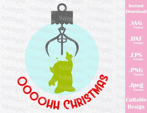 Alien Quote, Christmas Ornament, Toy Story, Disney Inspired Family Vacation Cutting File in SVG, ESP, DXF, PNG and JPEG Format