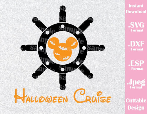 Halloween Cruise Mickey Ears Halloween Inspired Cutting File in SVG, EPS, DXF and JPEG Format