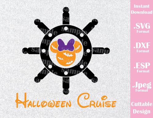Halloween Cruise Minnie Ears Halloween Inspired Cutting File in SVG, EPS, DXF and JPEG Format