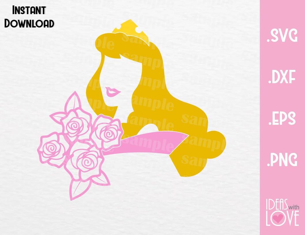 Princess Aurora Inspired  SVG, EPS, DXF and PNG Format
