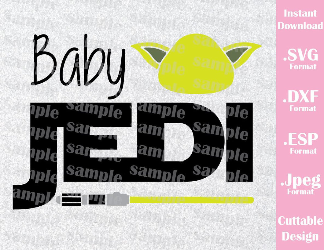 Baby Yoda Quote Star Wars Inspired Cutting File in SVG, ESP, DXF and JPEG Format