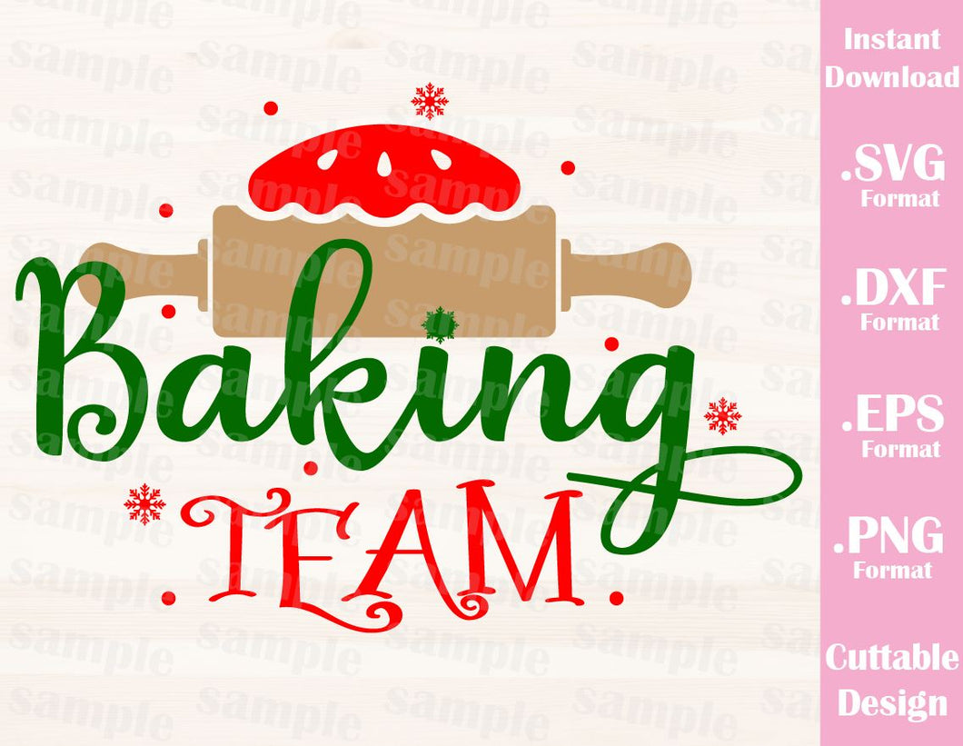 Christmas Baking Team Quote Family Vacation Cutting File in SVG, ESP, DXF and PNG Format for Cricut and Silhouette