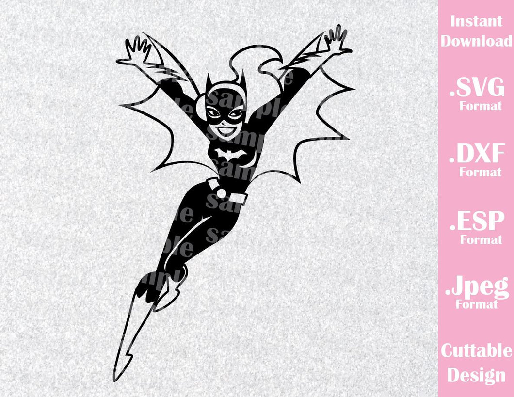 Batgirl Superhero Inspired Cutting File in SVG, ESP, DXF and JPEG Format