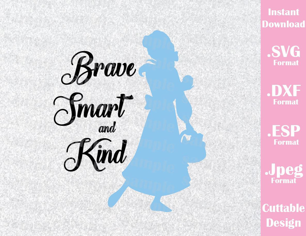 Princess Belle Quote Inspired Cutting File in SVG, ESP, DXF and JPEG Format