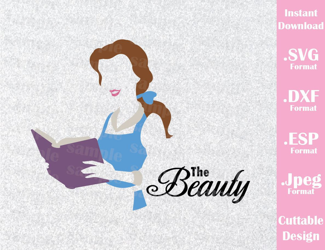 Princess Belle Quote Beauty and the Beast Cutting File in SVG, ESP, DXF and JPEG Format