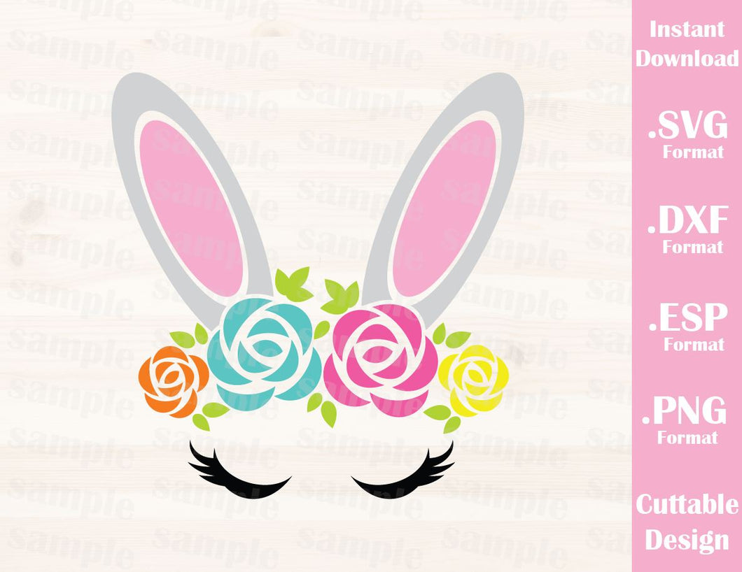 Easter Bunny Girl, Baby, Kid, Cutting File in SVG, ESP, DXF and PNG Format for Cricut and Silhouette
