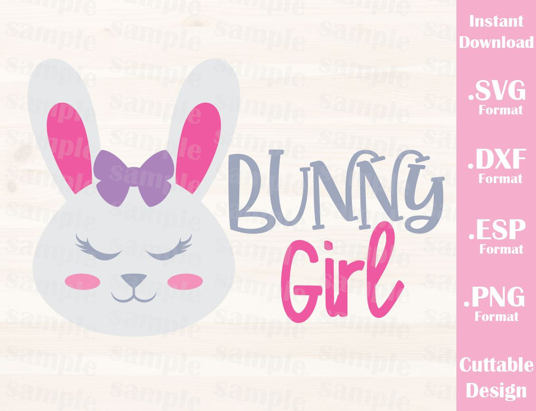 Easter Quote, Bunny Girl, Baby, Kid, Cutting File in SVG, ESP, DXF and PNG Format for Cricut and Silhouette