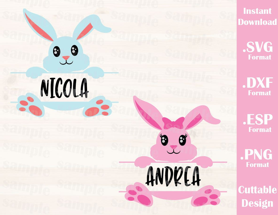 Easter Bunny (Font not include), Baby, Kid, Cutting File in SVG, ESP, DXF and PNG Format for Cricut and Silhouette