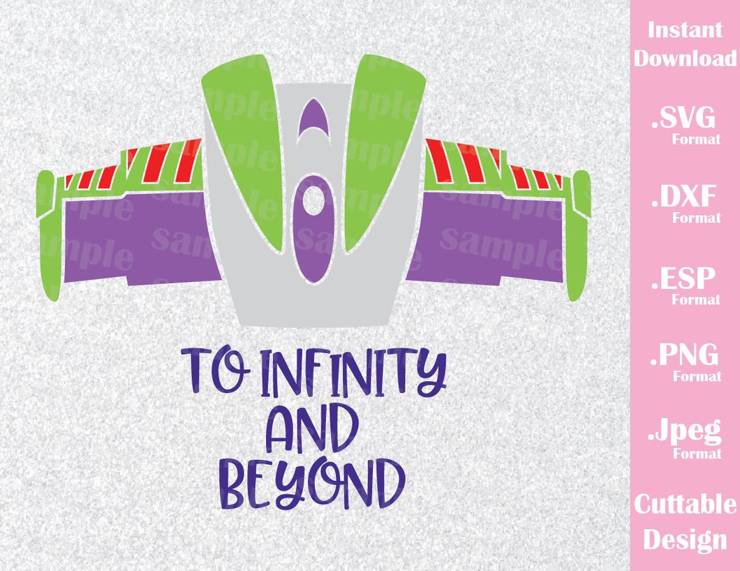 Buzz Lightyear To Infinity and Beyond, Toy Story Inspired SVG, ESP, DXF, PNG and JPEG Format