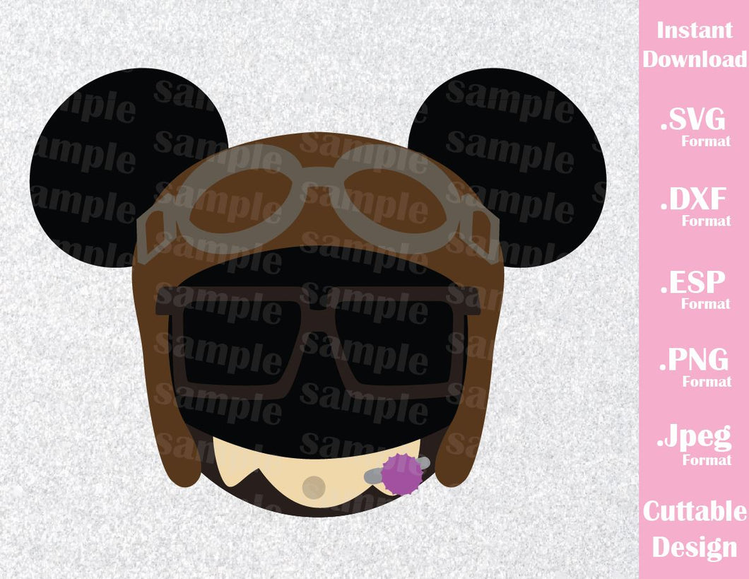 Up Carl Mickey Ears Inspired Cutting File in SVG, ESP, DXF, PNG and JPEG Format