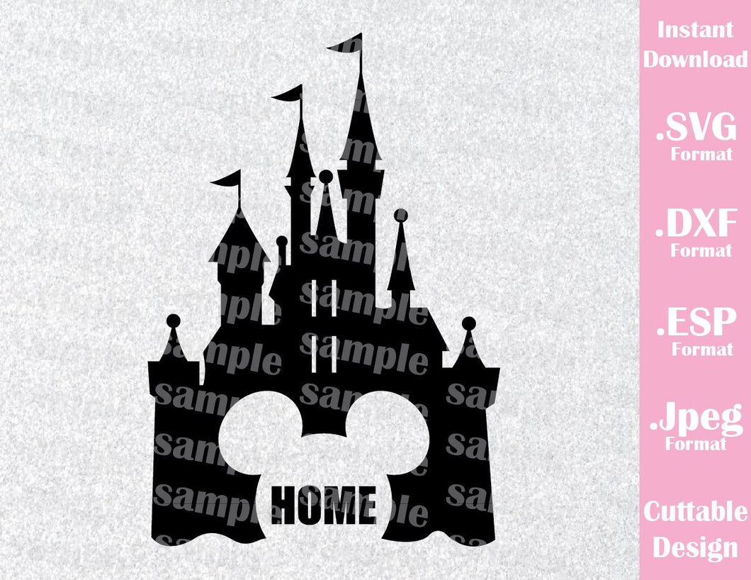 Castle Mickey Ears Home Inspired Cutting File in SVG, ESP, DXF and JPEG Format