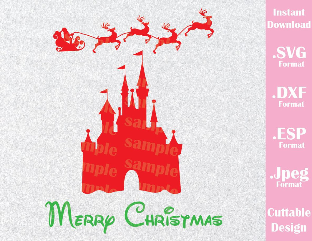 Castle Merry Christmas Vacation Inspired Cutting File in SVG, ESP, DXF and JPEG Format