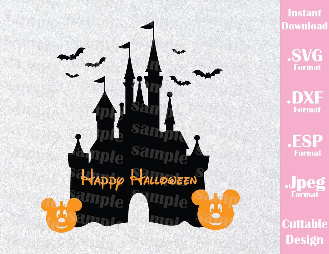 Castle Halloween Vacation Disney Halloween Inspired Cutting File in SVG, ESP, DXF and JPEG Format