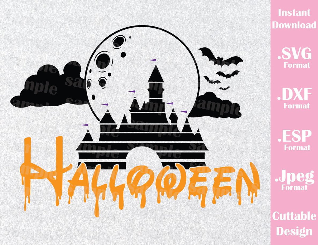 Castle Halloween Family Vacation, Halloween Inspired Cutting File in SVG, EPS, DXF and JPEG Format