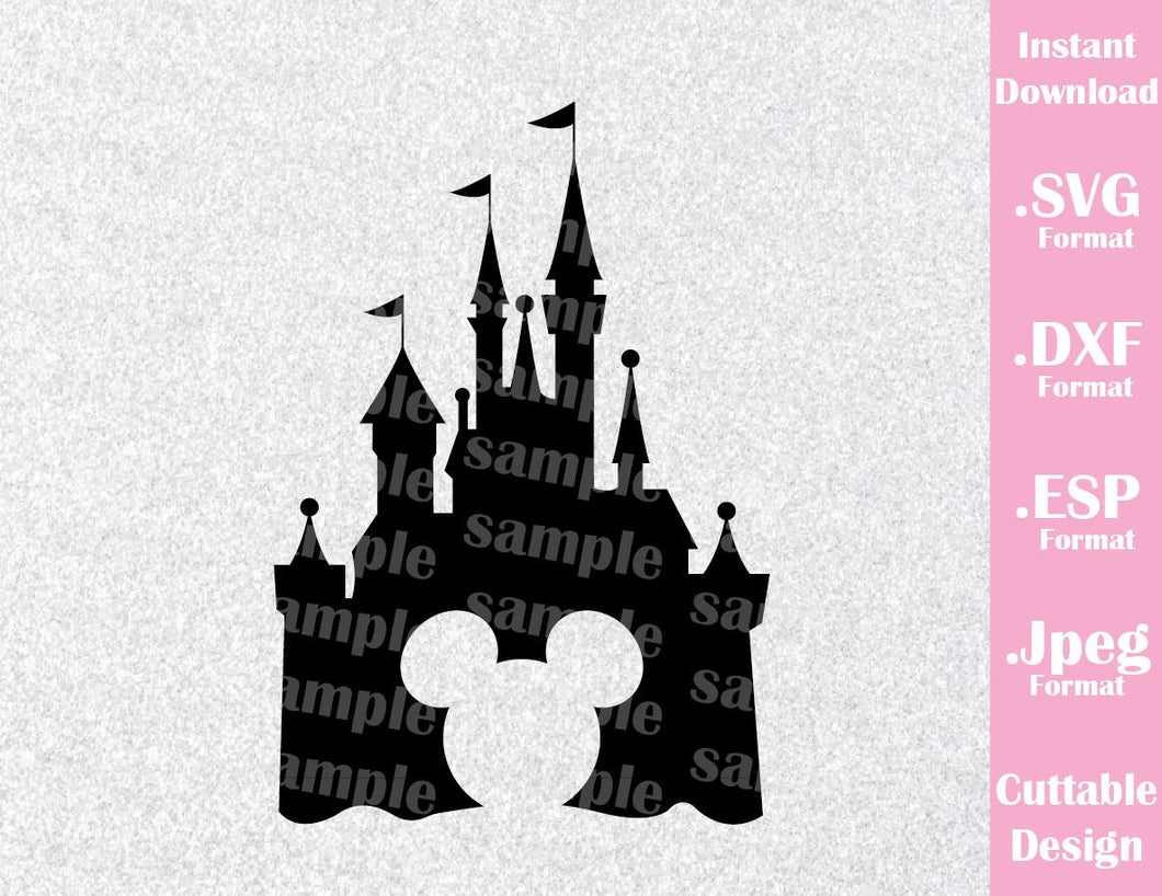 Mouse Castle Ears Cutting File in SVG, ESP, DXF and JPEG Format