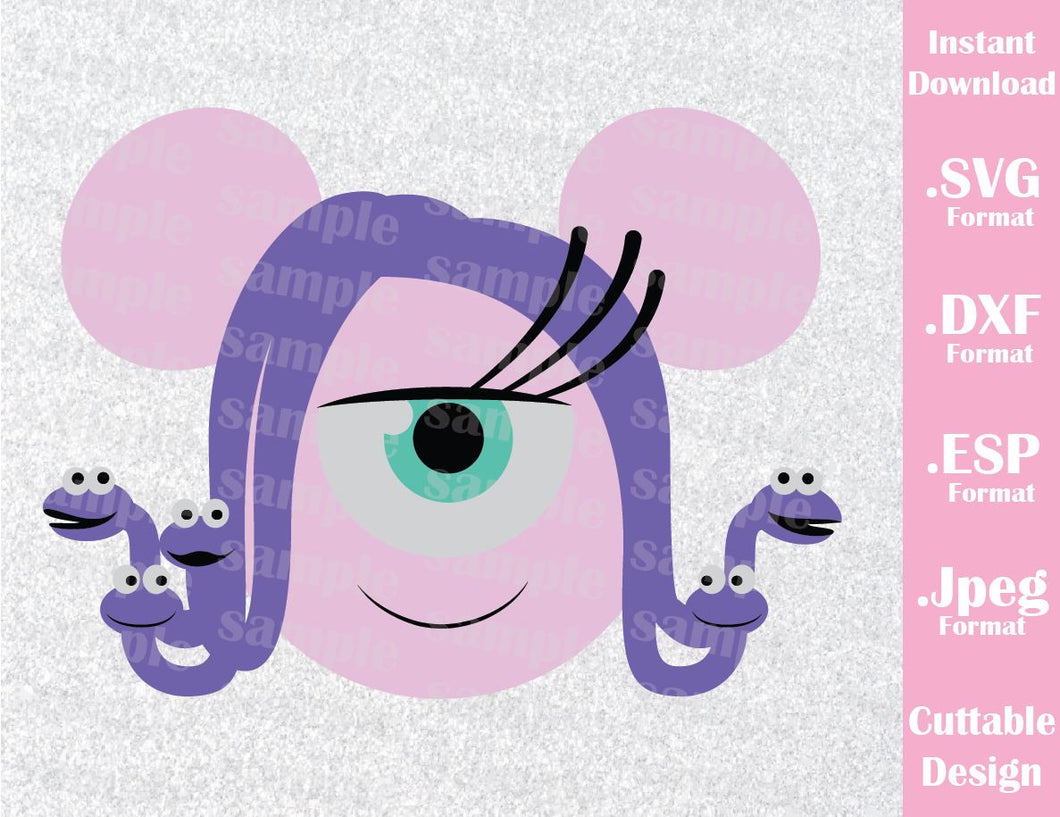 Celia Mickey Ears Monster Inc Inspired Cutting File in SVG, ESP, DXF and JPEG Format