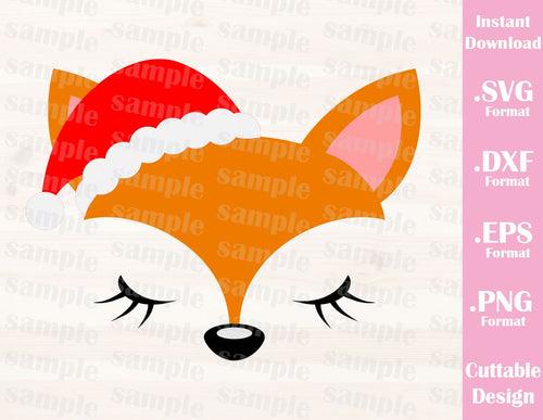 Christmas Fox, Cutting File in SVG, ESP, DXF and PNG Format for Cricut and Silhouette Machines