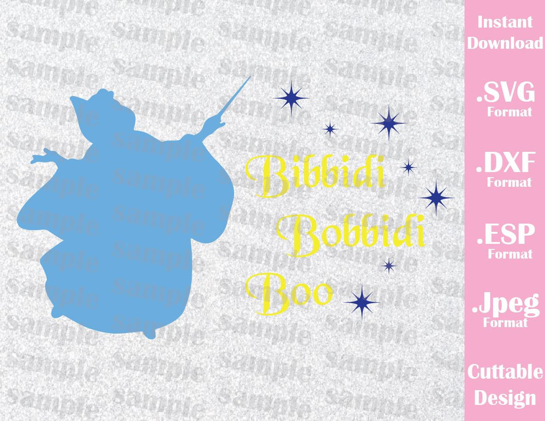 Princess Cinderella Godmother Quote Inspired Cutting File in SVG, ESP, DXF and JPEG Format