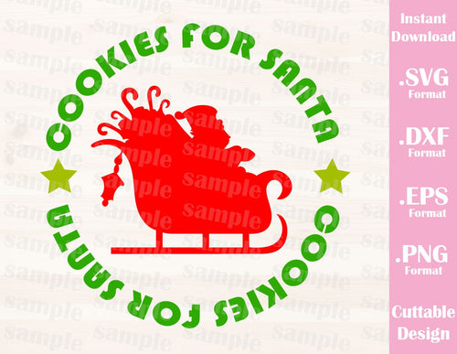 Christmas Quote Cookies for Santa, Cutting File in SVG, ESP, DXF and PNG Format for Cricut and Silhouette