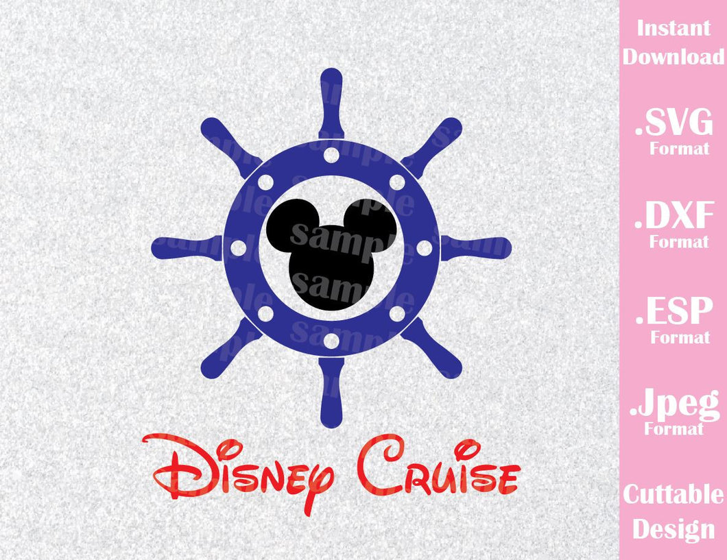 Anchor Mickey Ears Cruise Inspired Cutting File in SVG, ESP, DXF and JPEG Format