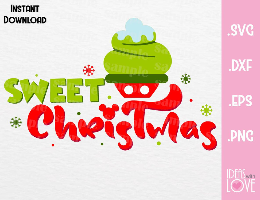 Mickey Cupcake Sweet Christmas Inspired SVG, EPS, DXF, PNG Format