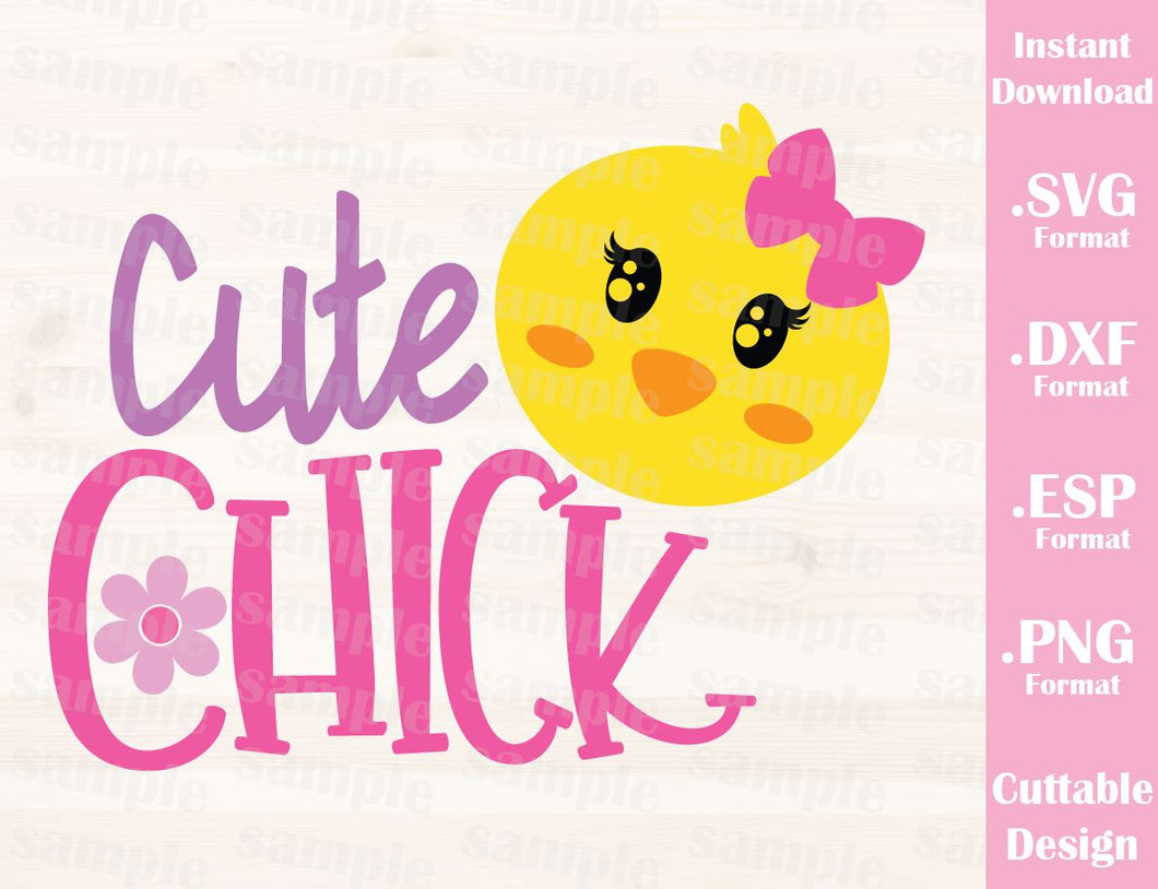 Easter Girl Quote, Cute Chick, Baby, Kid, Cutting File in SVG, ESP, DXF and PNG Format for Cricut and Silhouette