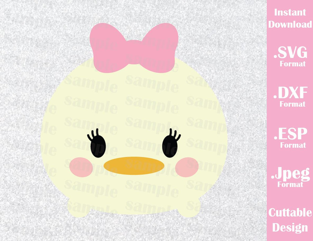 Daisy Duck Tsum Tsum Inspired Cutting File in SVG, ESP, DXF and JPEG Format