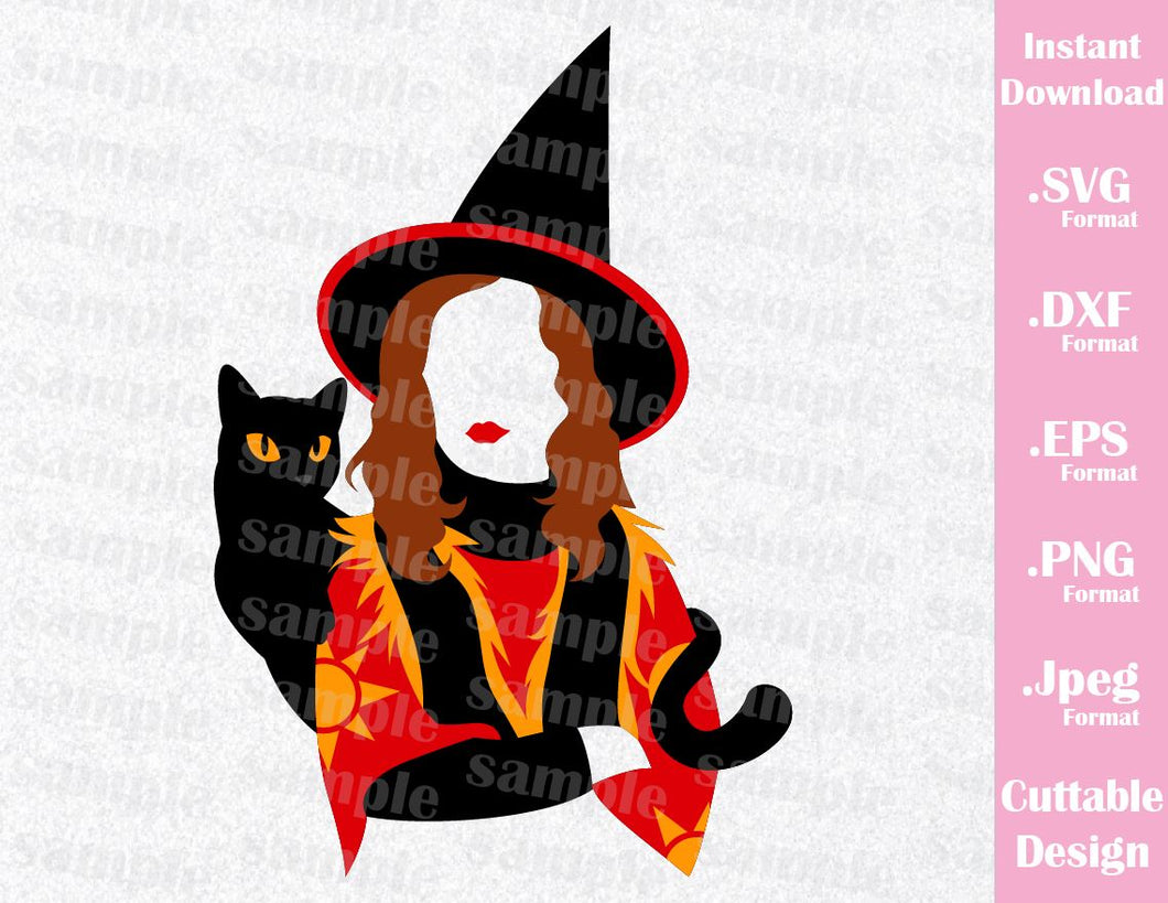 Hocus Pocus Dani and Binx Halloween Inspired Cutting File in SVG, EPS, DXF, PNG and JPEG Format