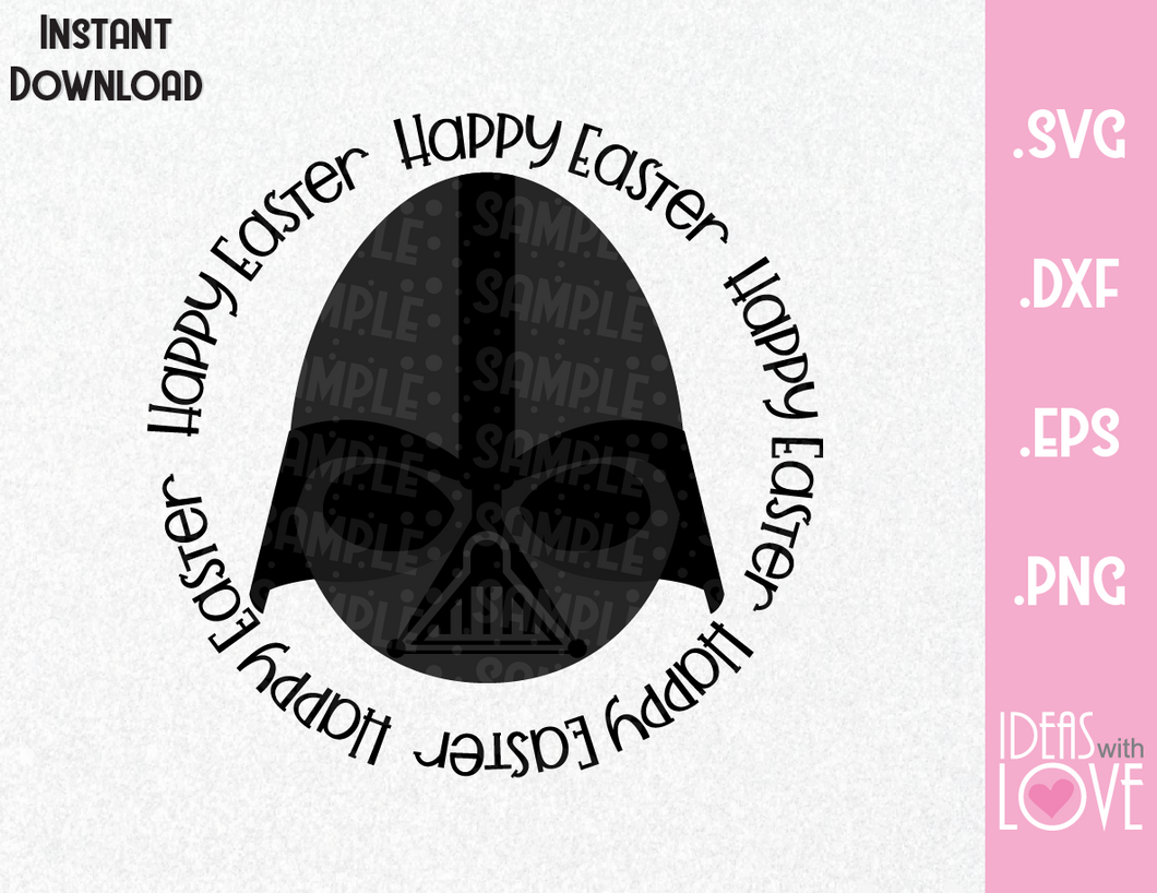 Happy Easter Darth Vader Egg Inspired SVG, EPS, DXF, PNG