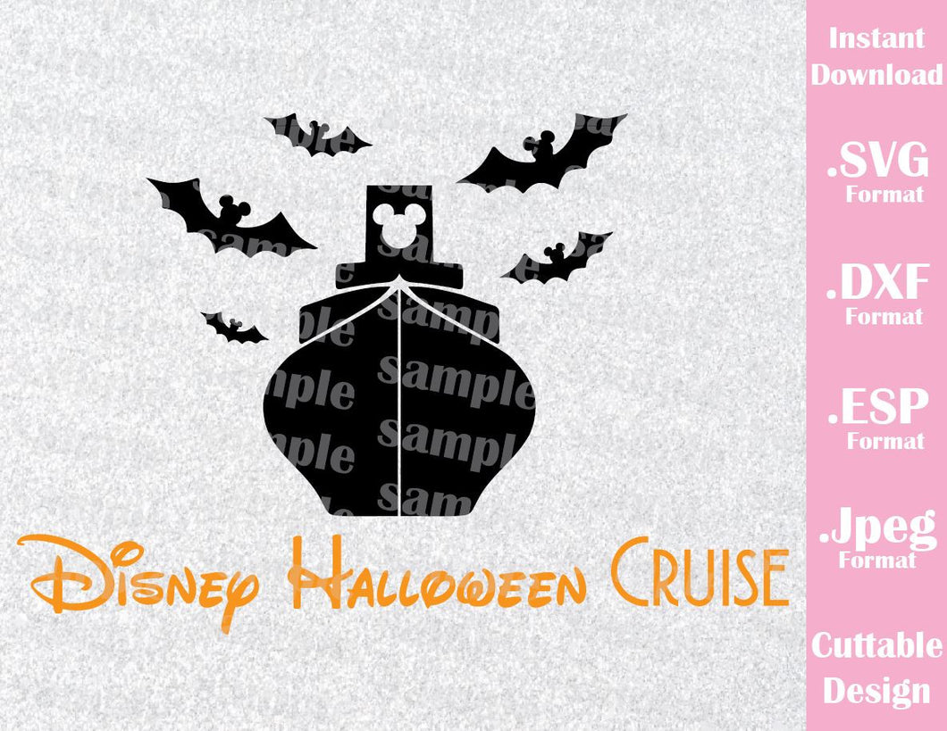 Halloween Cruise Mickey Ears Inspired Cutting File in SVG, EPS, DXF and JPEG Format