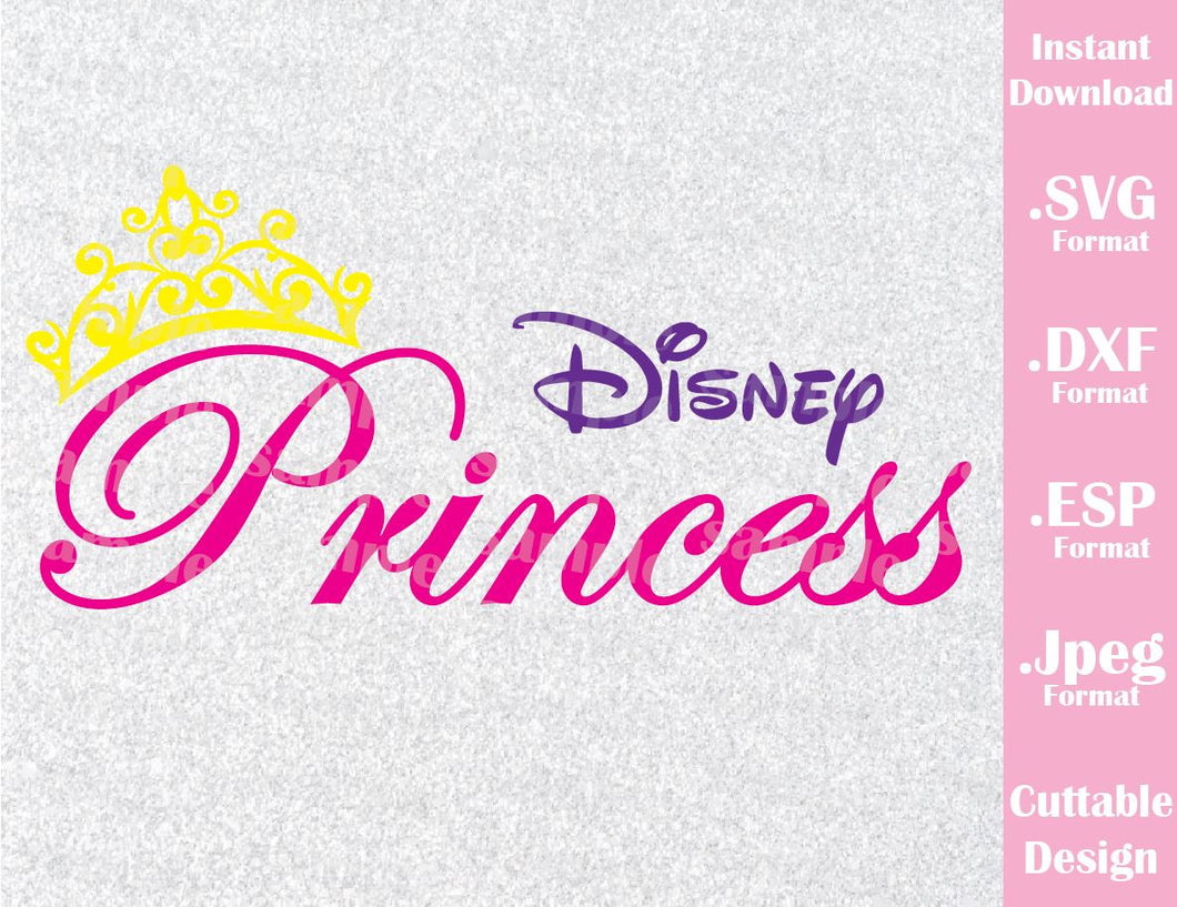 Princess Crown Logo Inspired Cutting File in SVG, ESP, DXF and JPEG Format