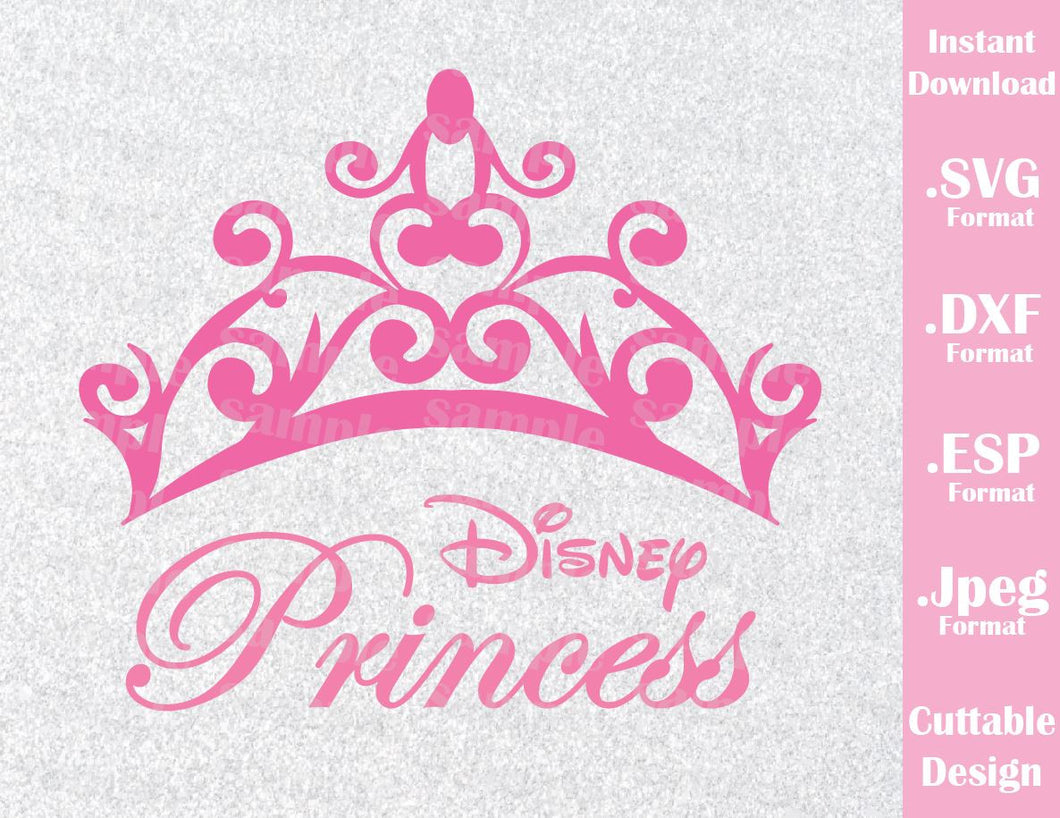 Princess Crown Inspired Cutting File in SVG, ESP, DXF and JPEG Format