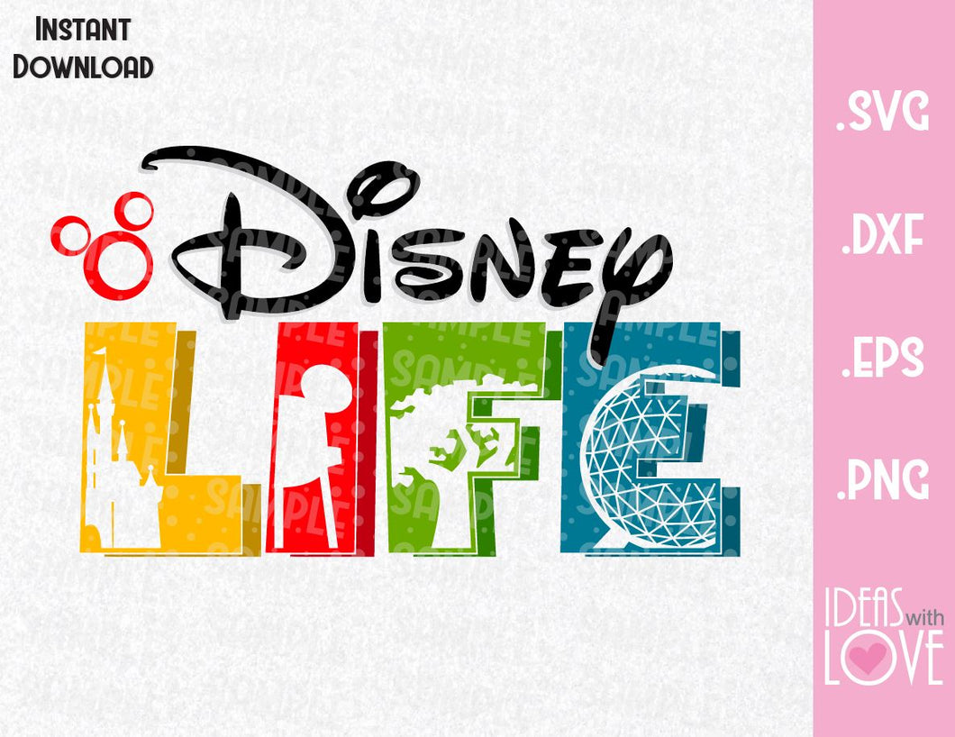 Disney Life Parks Inspired SVG, EPS, DXF and PNG Format