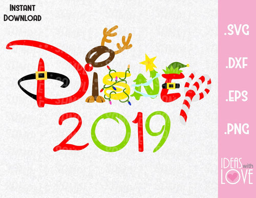 Christmas 2019 Disney Christmas Inspired SVG, EPS, DXF, PNG Format