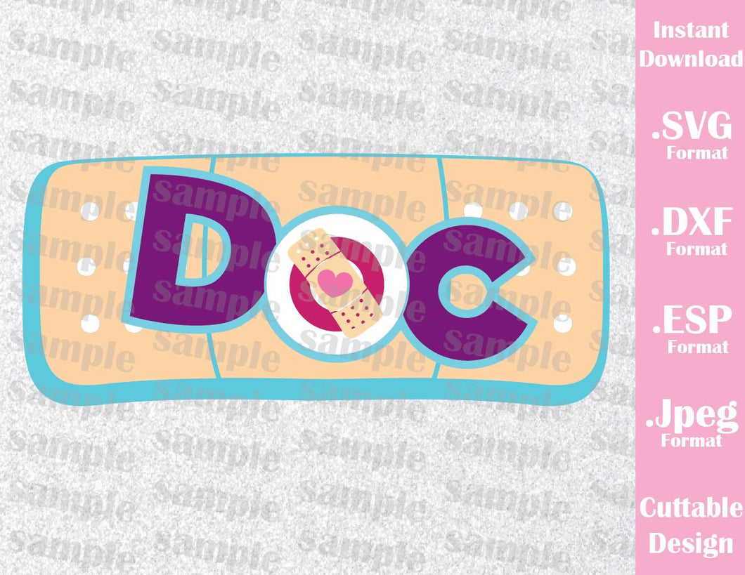 Doc Mcstuffins Disney Inspired Kids Characters Cutting File in SVG, ESP, DXF and JPEG Format