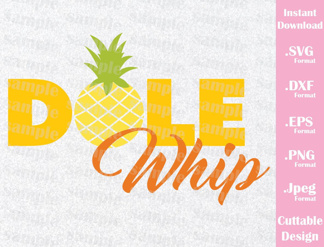 Dole Whip Inspired Quote Cutting File in SVG, ESP, DXF, PNG and JPEG Format