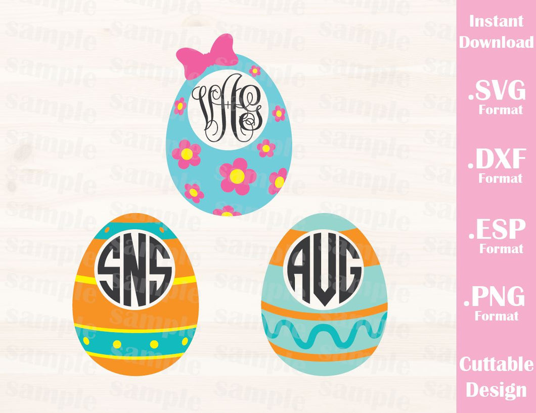 Easter Eggs (Font not include), Baby, Kid, Cutting File in SVG, ESP, DXF and PNG Format for Cricut and Silhouette