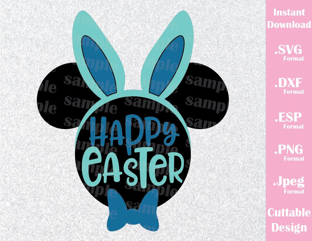 Easter Mickey Ears Happy Easter Inspired SVG, EPS, DXF, PNG and JPEG Format