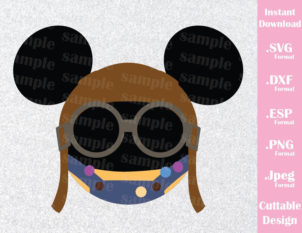 Up Ellie Mickey Ears Inspired Cutting File in SVG, ESP, DXF, PNG and JPEG Format