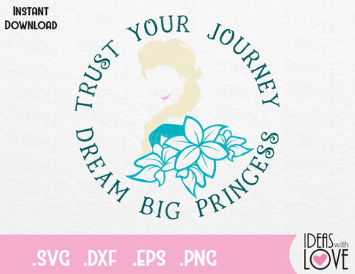 Princess Elsa Quote Inspired Cutting File in SVG, EPS, DXF and PNG Format