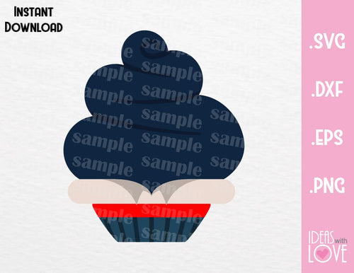 Prince Eric Cupcake Cutting File in SVG, EPS, DXF and PNG Format