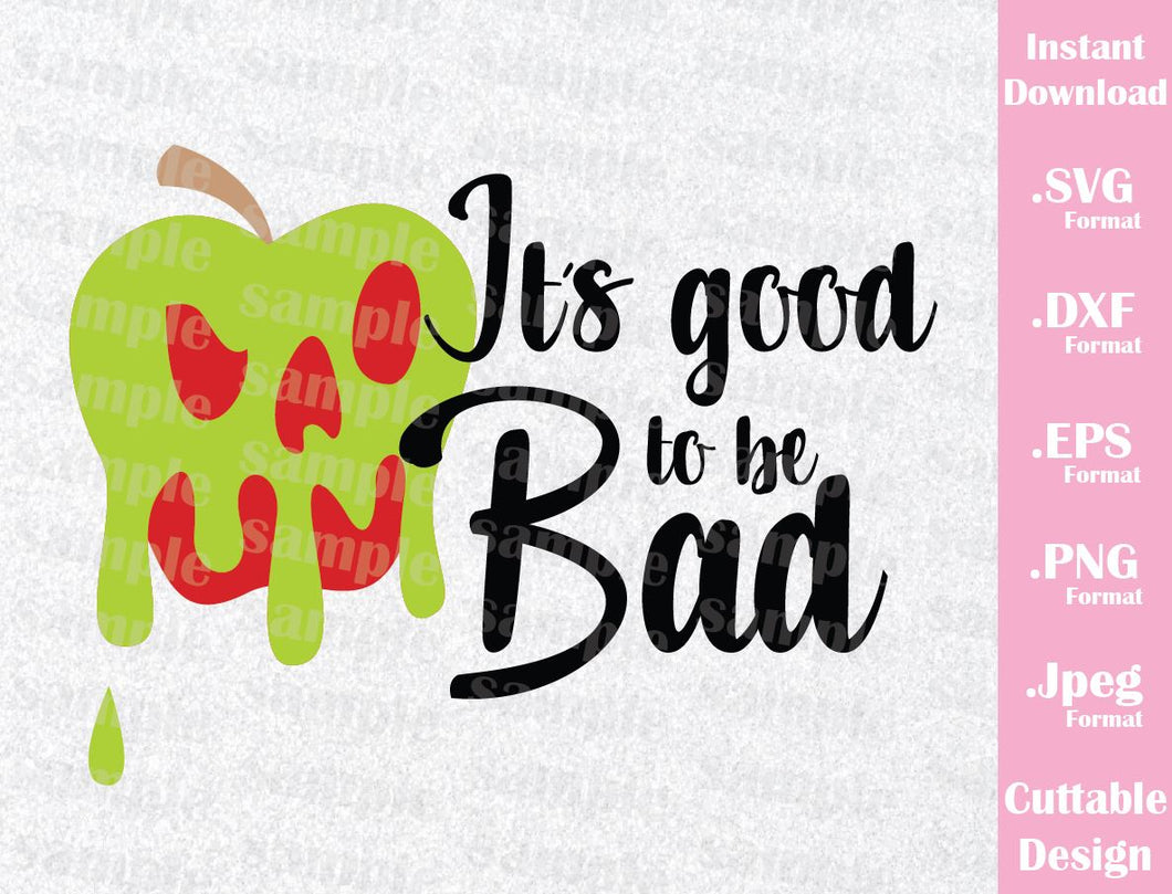 Evil Queen Apple Quote Villain Inspired Cutting File in SVG, ESP, DXF, PNG and JPEG Format