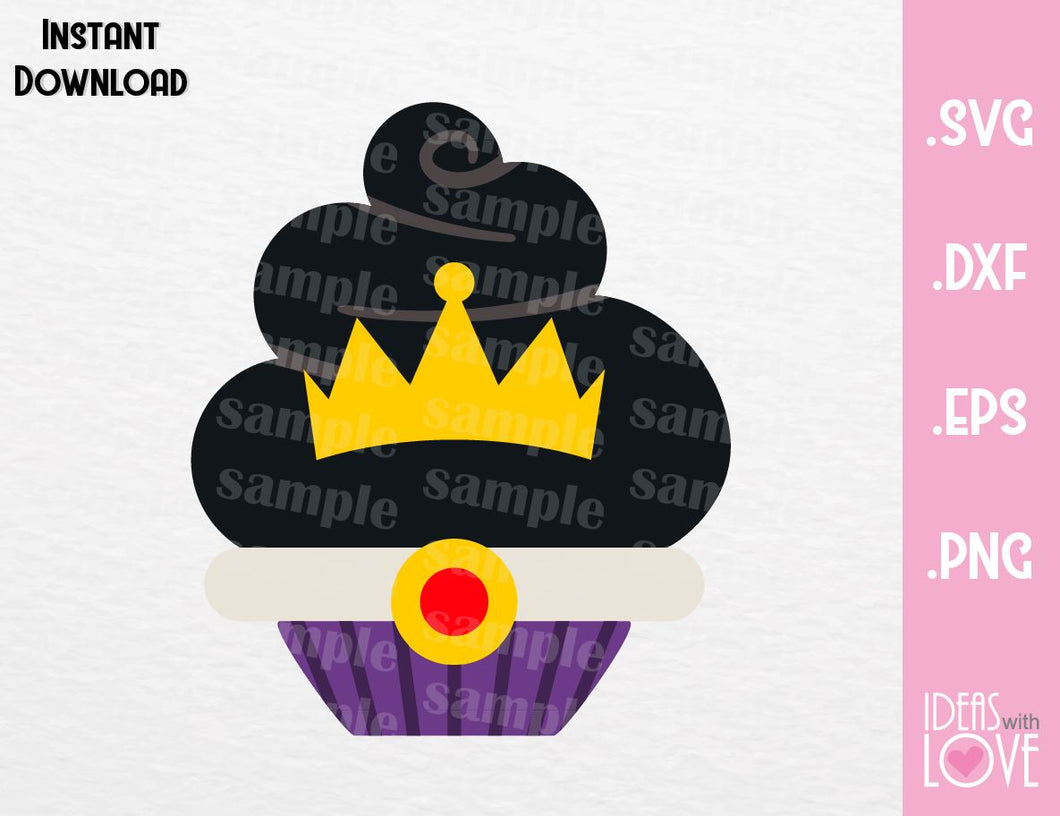 Evil Queen Cupcake Villain Inspired Cutting Machines File in SVG, EPS, DXF and Png Format