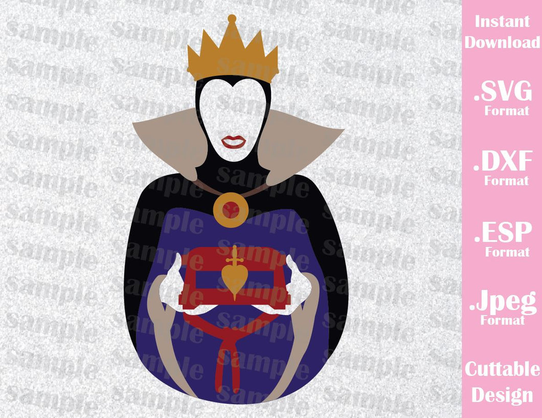 Evil Queen Villain Inspired Cutting File in SVG, ESP, DXF and JPEG Format