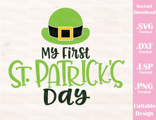 St. Patrick's Day Quote, My First St. Patrick's Day, Baby, Kid, Cutting File in SVG, ESP, DXF and PNG Format for Cricut and Silhouette